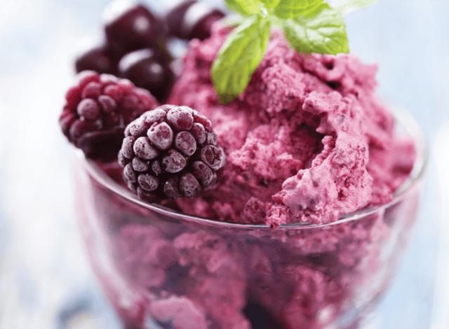 raspberry ice cream plant-based flavor